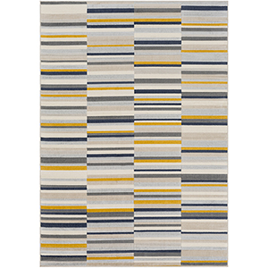 City Mustard, Grey and Beige Rectangular: 7 Ft. 10 In. x 10 Ft. 3 In. Rug
