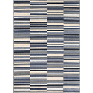 City Grey and Khaki Rectangular: 7 Ft. 10 In. x 10 Ft. 3 In. Rug