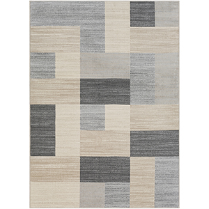 City Beige and Taupe Rectangular: 3 Ft. 11 In. x 5 Ft. 7 In. Rug
