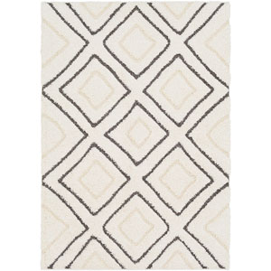 Cut and Loop Shag Cream Rectangle: 5 Ft. 3 In. x 7 Ft. 3 In. Rug