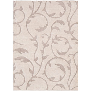 Cut and Loop Shag Neutral Rectangle: 5 Ft. 3 In. x 7 Ft. 3 In. Rug
