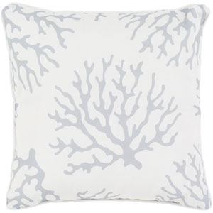 Coral Gray and Neutral 16 x 16-Inch Pillow