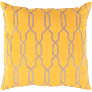 Gates Yellow and Neutral 22-Inch Pillow Cover
