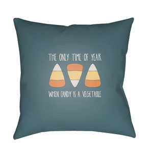 Blue Candy Corn 20-Inch Throw Pillow with Poly Fill
