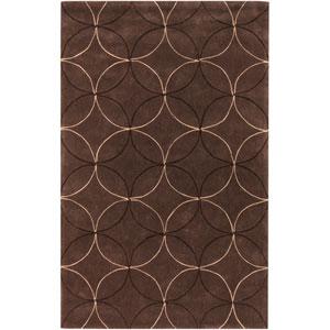 Cosmopolitan Brown Circles Rectangular: 5 Ft. x 8 Ft. Rug