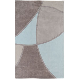 Cosmopolitan Gray and Blue Rectangular: 5 Ft. x 8 Ft. Rug