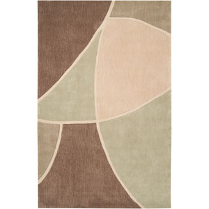 Cosmopolitan Brown and Green Rectangular: 5 Ft. x 8 Ft. Rug