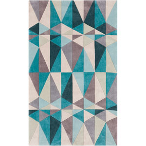 Cosmopolitan Teal Blue Rectangular: 5 Ft. x 8 Ft. Rug