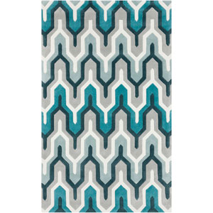 Cosmopolitan Ice Blue Rectangular: 5 Ft. x 8 Ft. Rug