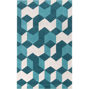 Cosmopolitan Teal Rectangular: 5 Ft. x 8 Ft. Rug