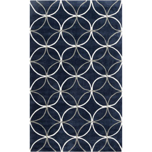 Cosmopolitan Flint Gray and Federal Blue Rectangular: 5 Ft. x 8 Ft. Rug