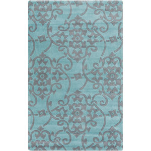 Cosmopolitan Slate Blue Rectangular: 5 Ft. x 8 Ft. Rug