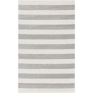 Cosmopolitan Light Gray and Ivory Rectangular: 2 Ft x 3 Ft Rug