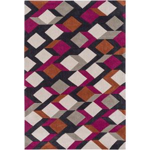 Cosmopolitan Pink and Orange Rectangular: 2 Ft x 3 Ft Rug