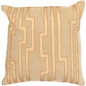 Velocity Neutral and Metallic 20-Inch Pillow Cover