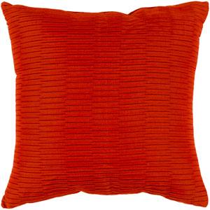 Caplin Burnt Orange 20 x 20-Inch Throw Pillow