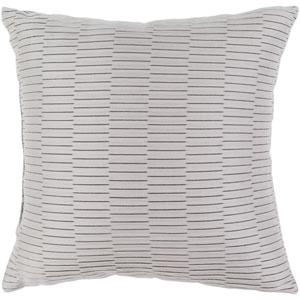 Caplin Light Gray 20 x 20-Inch Throw Pillow