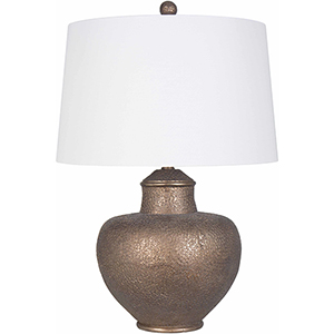 Cooper Antiqued Copper 26-Inch One-Light Table Lamp