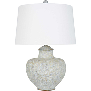 Cooper Gray and White Patina 26-Inch One-Light Table Lamp