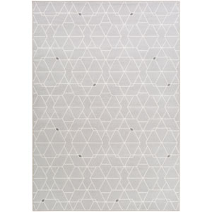 Contempo Gray and Neutral Rectangular: 2 Ft. x 3 Ft. Rug