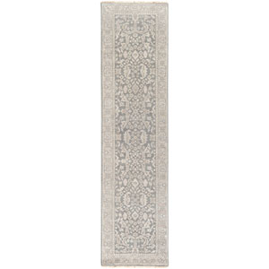 Cappadocia Gray and Green Rectangular: 2 Ft. 6-Inch x 10 Ft. Runner