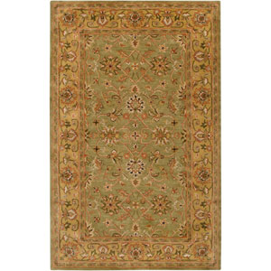 Crowne Fern and Gold Rectangular: 5 Ft. x 8 Ft. Rug