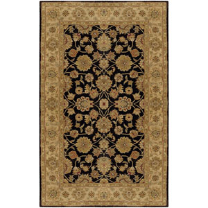 Crowne Charcoal and Beige Rectangular: 5 Ft. x 8 Ft. Rug