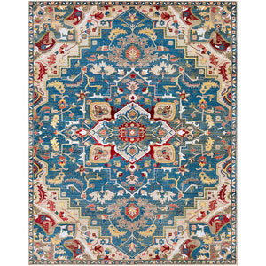 Crafty Blue Rectangle: 7 Ft. 10 In. x 9 Ft. 10 In. Rug