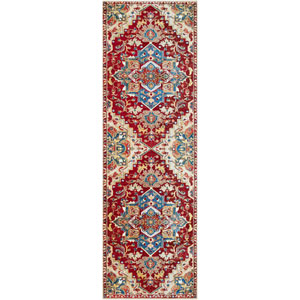 Crafty Red Runner: 2 Ft. 6 In. x 7 Ft. 10 In. Rug