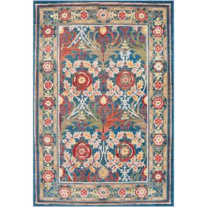 Crafty Blue Rectangle: 3 Ft. x 5 Ft. Rug
