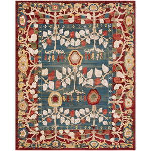 Crafty Red Rectangle: 5 Ft. 1 In. x 7 Ft. 4 In. Rug