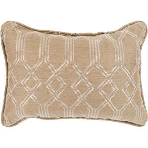Crissy Ivory and White 13 x 19 In. Throw Pillow