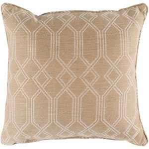Crissy Ivory and White 16 x 16 In. Throw Pillow