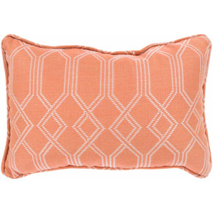 Crissy Bright Orange and White 13 x 19 In. Throw Pillow