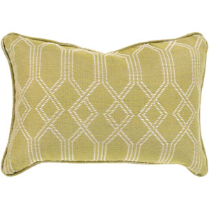 Crissy Lime and White 13 x 19 In. Throw Pillow