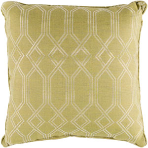 Crissy Lime and White 16 x 16 In. Throw Pillow