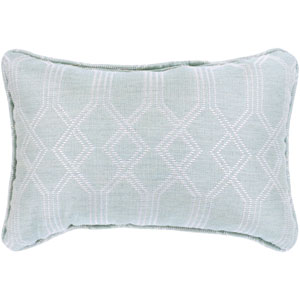 Crissy Sea Foam and White 13 x 19 In. Throw Pillow