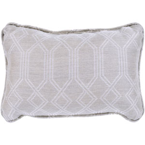 Crissy Khaki and White 13 x 19 In. Throw Pillow