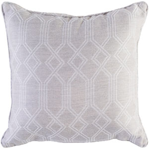 Crissy Khaki and White 16 x 16 In. Throw Pillow