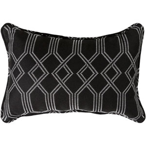 Crissy Black and White 13 x 19 In. Throw Pillow