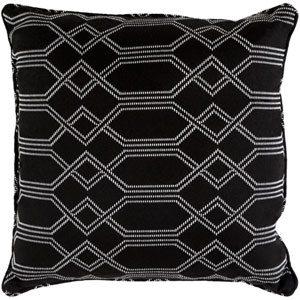 Crissy Black and White 16 x 16 In. Throw Pillow
