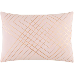 Crescent Blush and Gold 13 x 19 In. Throw Pillow