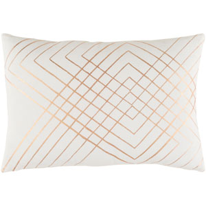 Crescent Neutral and Brown 13-Inch x 19-Inch Pillow Cover