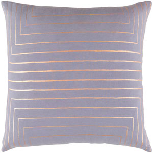 Crescent Gray and Yellow 22-Inch Pillow with Down Fill