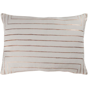 Crescent Cream and Copper 13 x 19 In. Throw Pillow Cover