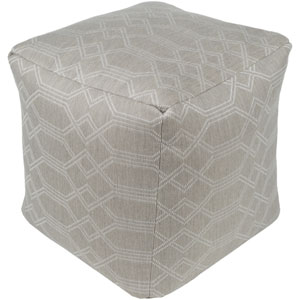 Crissy Ivory and White Pouf