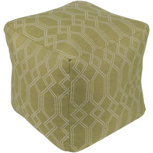 Crissy Lime and White Pouf