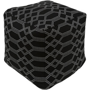 Crissy Black and White Pouf