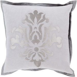 Cosette Gray 18-Inch Pillow Cover