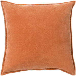 Cotton Velvet Orange 20-Inch Pillow Cover